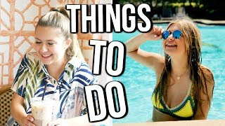 THINGS TO DO DURING SUMMER   Summer Bucket List 2017