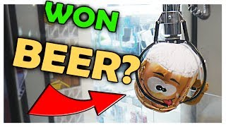 I WON BEER FROM THE CLAW MACHINE... || Arcade Games