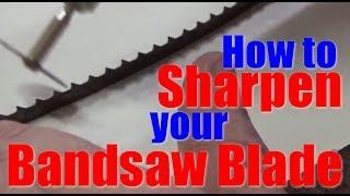 Shop Work: How to sharpen your bandsaw blade