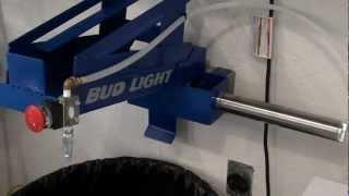 Bud Light Pneumatic Can Crusher