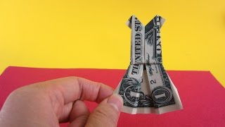 Money Origami tutorial 1$ Dollar Origami Money DRESS-Simple Origami Instruction