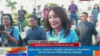 NTG: Panayam kay Gwen Garcia, suspendidong governor ng Cebu