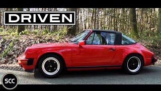 PORSCHE 911 3.2 CARRERA Targa 1984 - Full test drive in top gear - Engine sound   SCC TV