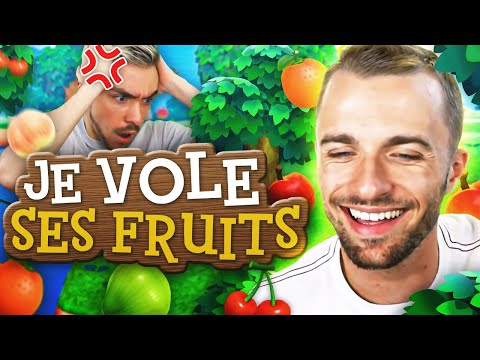 JE LUI VOLE TOUS SES FRUITS 😈 Animal Crossing ft. Shytoos
