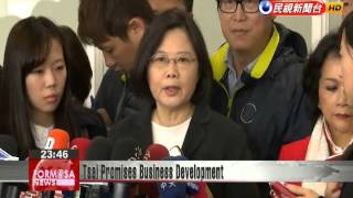 DPP presidential candidate Tsai Ing-wen promises not ruin industries after winning election