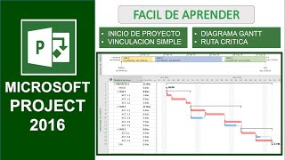 MS PROJECT 2016 - FACIL DE APRENDER EN ESPAÑOL