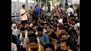 Protest in Sannidhanam against the restrictions imposed by police