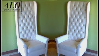 HOW TO UPHOLSTER A CHAIR WITH A TUFTED STYLE BACK - ALO Upholstery