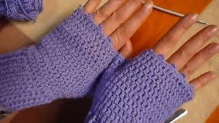 كروشيه جوانتى بدون أصابع قفازات - how to crochet a gloves