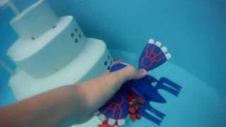 Kyogre and Groudon in the Water