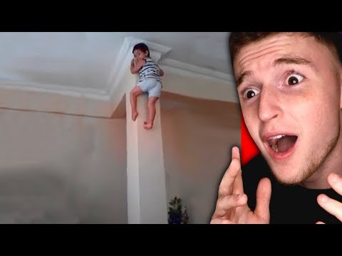 This kid can climb the walls like Spiderman