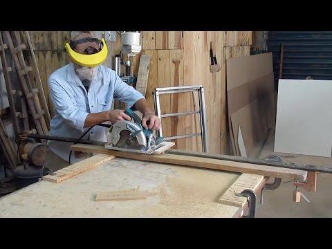 Aplainar madeira com serra circular