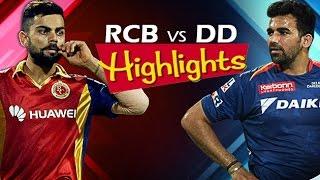 IPL 2016: RCB vs DD, 22nd May 2016 | Match Highlights | Delhi VS Bangalore