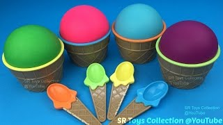 Play Doh Ice Cream Surprise Cups Paw Patrol Finding Dory The Good Dinosaur Eggs Disney Princess Toy