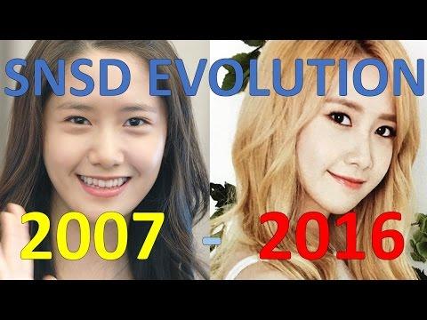SNSD EVOLUTION (2007-2016)