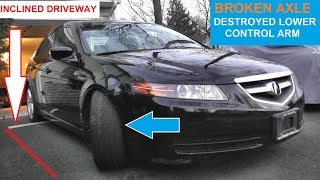 Moving A Car That Cannot Steer or Roll | Subframe & Control Arm Damage