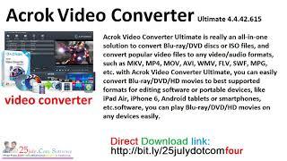 Acrok Video Converter Ultimate 4 4 42 615
