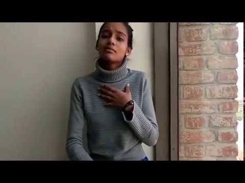Eminem's Rap god (full cover rap with fast part) by Indian Rapper Girl