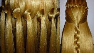 Loop Waterfall Braid Hairstyle. Hair Tutorial For BEGINNERS. Penteados