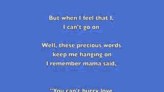 Phil Collins You Cant Hurry Love Lyrics