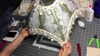 Desiggning Crafts wwith Style by Chari- Shabby Chic Lamp Shade TUTORIAL Part 2