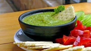 Venezuelan Avocado Salsa - Guasacaca - Vegan Vegetarian Recipe