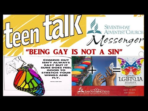 SDA Canadian Messenger Being Gay is not a Sin. GC 2015 Session LGBT Butterfly. Adventist Yoga