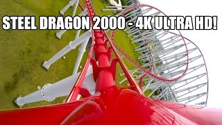 Steel Dragon 2000 Roller Coaster POV Awesome 4K Ultra HD Resolution Nagashima Spaland Japan