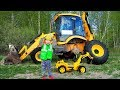 The wheel fall off on Tractor Funny Baby Senya Ride on Power Wheel mini Tractor to Help Dad