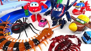Horrible bugs appeared in Tayo town. Go! Go! Super Wings Season2! - DuDuPopTOY