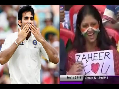Xxx Mp4 Cricket Zaheer Khan And Indian Girl Love And Flying Kiss In Live Cricket Funny 3gp Sex