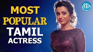 Trisha Won Most Popular Tamil Actress Award - 18th Asianet Film Awards 2016