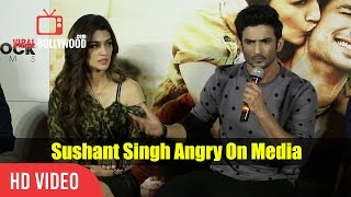 Sushant Singh Rajput Get Angry On A Media Reporter | Raabta Trailer Launch | slams Media Reporter