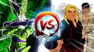 Cell Vs Ryu & Ken #CellGames | TeamFourStar