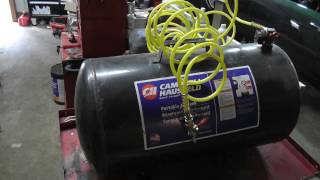 Building a propane forge from air tank