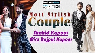Shahid & Mira || Wins The Most Stylish Couple Award @ || HT Most Stylish Awards 2018