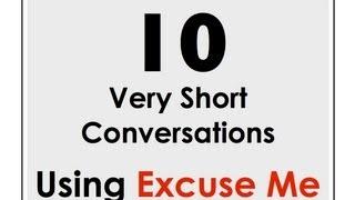 Excuse Me! | Easy English Conversation Practice | ESL / EFL