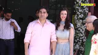 Arbaaz Khan Arrives With His Girlfriend Andriani Georgia & Her Father Angelo At Aprita Khan's Home
