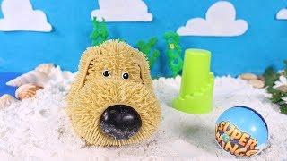🐶 SOGGY DOGGY 🐶  Nos bañamos y tomamos el sol en la playa con Soggy Doggy | Juguetes para niños