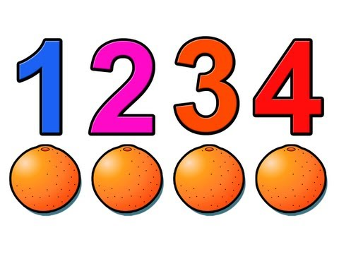 Counting Oranges Education for Children and Babies Kids Learn to Count 1234