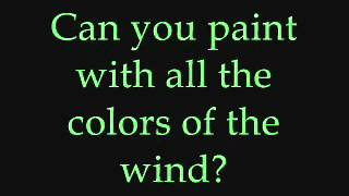 Colors of the Wind lyrics