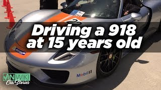 I got to drive a Porsche 918 at 15 years old