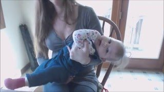 Beautiful Breastfeeding Mom & Baby Girl