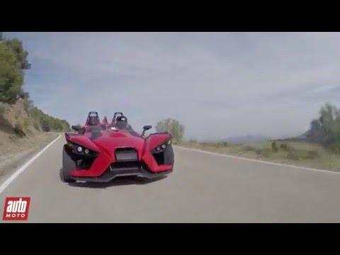 Polaris Slingshot 2016 ESSAI VIDEO Lance pierre qui roule