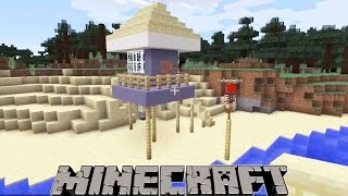 My Realm - Let's Build A Life Guard Tower on the Beach - Minecraft