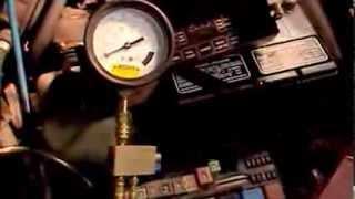 Testing for a failed fuel pump check valve