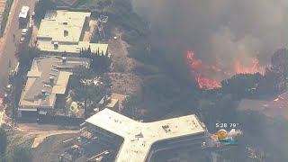 Fire Rages Near Bel-Air, Getty Museum In Los Angeles