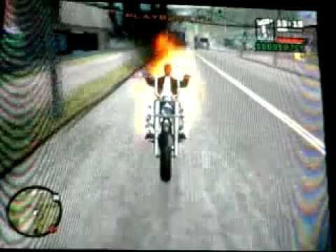 como ser el motorista fantasma en GTA San Andreas PS2