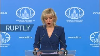 LIVE: Zakharova holds MFA weekly briefing in Moscow (ENG)