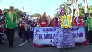Group Drumband TK Muslimat I Roushon Fikr pada parade drumband se-kabupaten Jombang 28-5-2016